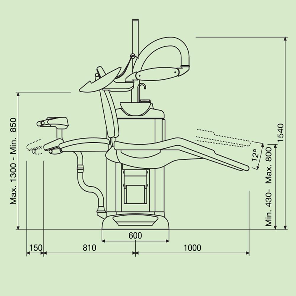 Фото - Fedesa Coral Lux - ультракомпактная стоматологическая установка с нижней/верхней подачей инструментов | Fedesa (Испания)