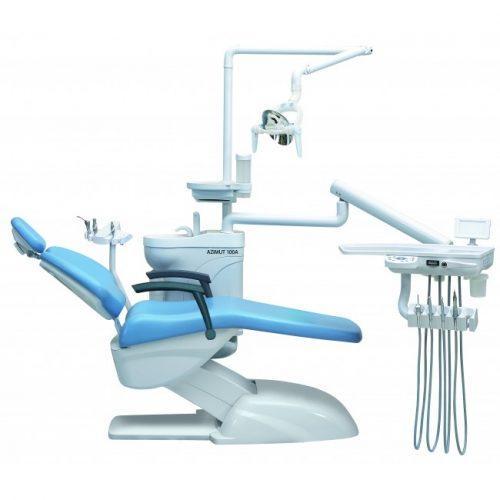 Фотография Azimut 100A - стоматологическая установка с верхней подачей инструментов и двумя стульями | Azimut (Китай)