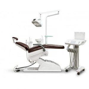 Фотография AY-A 3000 IMPLA - стоматологическая установка с нижней подачей инструментов и подкатным столом врача | Anya (Китай)