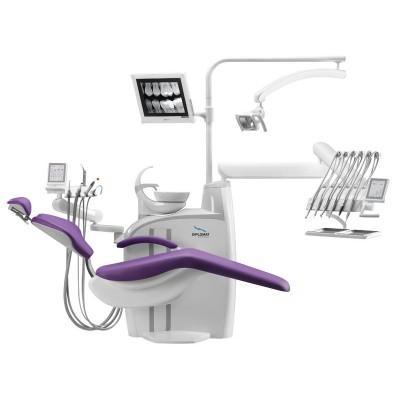 Фотография Diplomat Adept DA370 - стационарная стоматологическая установка с верхней подачей инструментов   Diplomat Dental (Словакия)