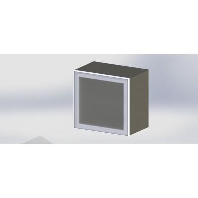 дверца стекло в алюминиевой рамке