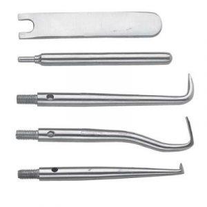 Фотография Насадки для коронкоснимателя 16-7* (комплект из трех насадок и двух ключей) | HLW Dental Instruments (Германия)