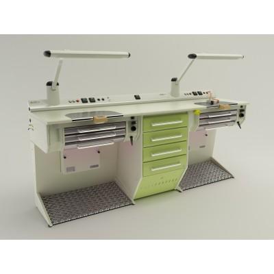 Фото - OPERATIVE 06 - стол зубного техника на два рабочих места| CATO (Италия)