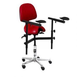 Фотография Bambach MS - эрготерапевтический стул-седло для работы с микроскопом | Bambach (Германия)