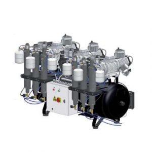 Фотография Cattani 300-714 - безмасляный стоматологический компрессор для 12-ти стоматологических установок