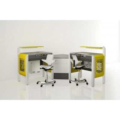 Фотография COJMP.14 - стол зубного техника на два рабочих места| CATO (Италия)
