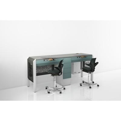 Фотография COJMP.9 - стол зубного техника на два рабочих места| CATO (Италия)
