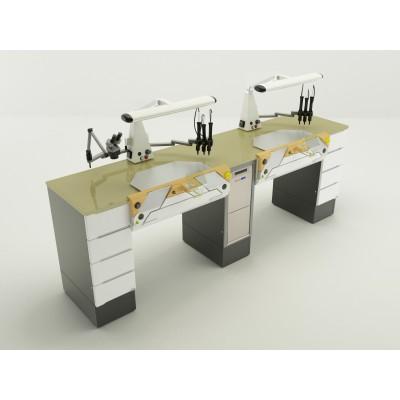 Фотография Duofull - стол зубного техника на два рабочих места| CATO (Италия)