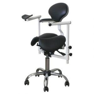 Фотография Pegas-2D - стул-седло врача-стоматолога с телескопическими подлокотниками для работы с микроскопом | DealDent (Украина)