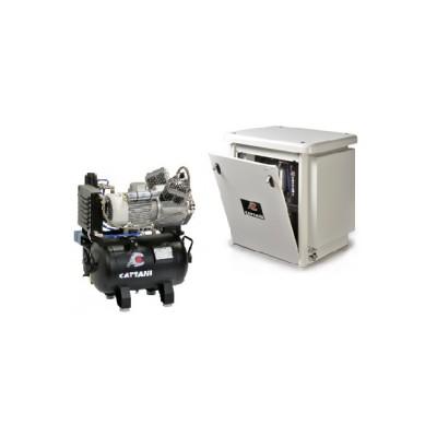 Фото - Cattani 30-160 - безмасляный компрессор для двух стоматологических установок, c кожухом, c осушителем, с ресивером 30 л (160 л/мин)   Cattani (Италия)