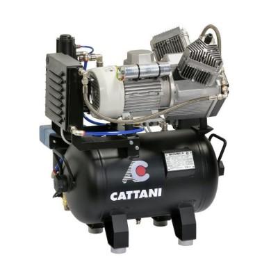 Фото - Cattani 30-160 - безмасляный компрессор для 2-х стоматологических установок, c осушителем, без кожуха, с ресивером 30 л, 160 л/мин, однофазный | Cattani (Италия)