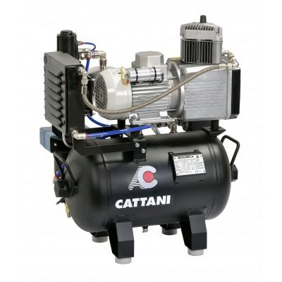 Фото - Cattani 30-67 - безмасляный компрессор для одной стоматологической установки, с осушителем, с ресивером 30 л, 67,5 л/мин | Cattani (Италия)