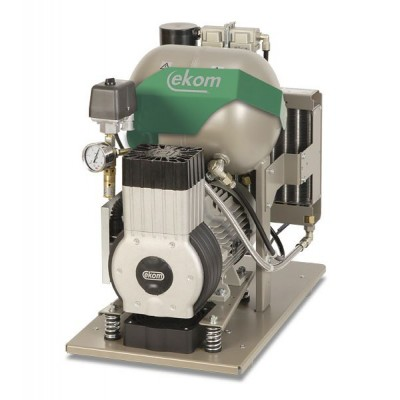 Фото - EKOM DK50-10 S - безмасляный компрессор для одной стоматологической установки с кожухом, без осушителя, с ресивером 10 л | EKOM (Словакия)