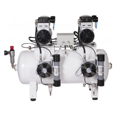 Фото - Remeza КМ-100.OLD20ТД - безмасляный компрессор для 4-х стоматологических установок, с осушителем мембранного типа, с ресивером 100 л, 320 л/мин   Remeza (Белоруссия)