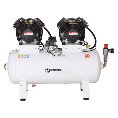 Фото - Remeza КМ-100.VS204Т - безмасляный компрессор для 4-х стоматологических установок, без осушителя, с ресивером 100 л, 330 л/мин | Remeza (Белоруссия)