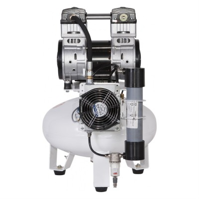 Фото - Remeza КМ-24.OLD10Д - безмасляный компрессор для одной стоматологической установки, с осушителем мембранного типа, с ресивером 24 л, 65 л/мин   Remeza (Белоруссия)