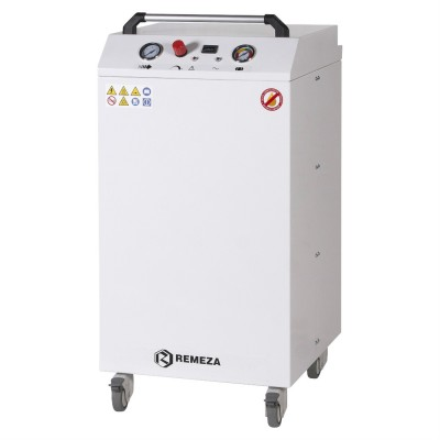 Фото - Remeza КМ-8.OLD10НК - безмасляный компрессор для аппаратов искусственной вентиляции легких и наркозно-дыхательного оборудования, с кожухом, с ресивером 8 л, 75 л/мин | Remeza (Белоруссия)