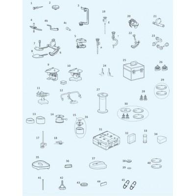 Product photo: PDR-вставки (пара) для всех артикуляторов PROTAR evo | KaVo (Германия)