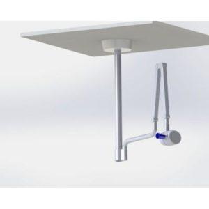 Product photo: DS-Pot-Geliodent - стойка потолочная с пластиной для рентгеновского аппарата Sirona | Медкрон (Россия)