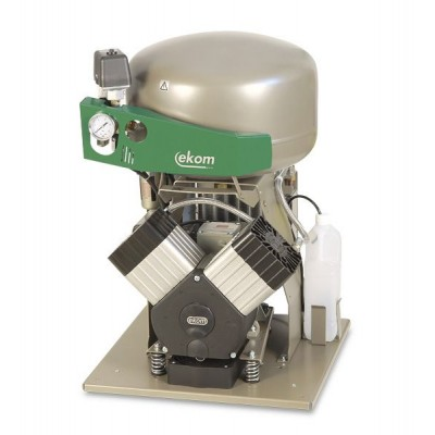 Product photo: EKOM DK50 2VS/M - безмасляный компрессор для 2-x стоматологических установок с кожухом