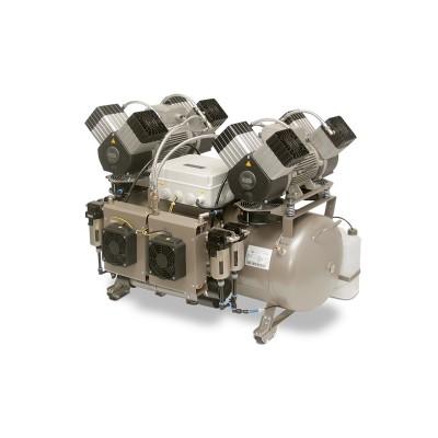 Product photo: EKOM DK50 2X4VR/110S/M - безмасляный компрессор для централизованной компрессорной с кожухом