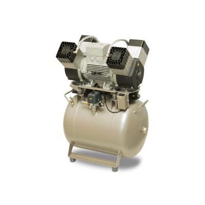 Product photo: EKOM DK50 4VR/50S/M - безмасляный компрессор для 4-x стоматологических установок с кожухом