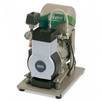 Product photo: EKOM DK50 B (BS) - безмасляный компрессор для одной стоматологической установки с ресивером 4 л (50 л/мин) | EKOM (Словакия)
