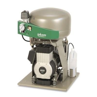 Product photo: EKOM DK50 PLUS S/M - безмасляный компрессор для одной стоматологической установки с кожухом