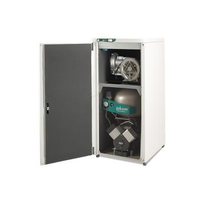 Product photo: EKOM DUO 2V - компрессор с отсасывателем в одном корпусе для 1-2 стоматологических установок (140 л/мин) | EKOM (Словакия)