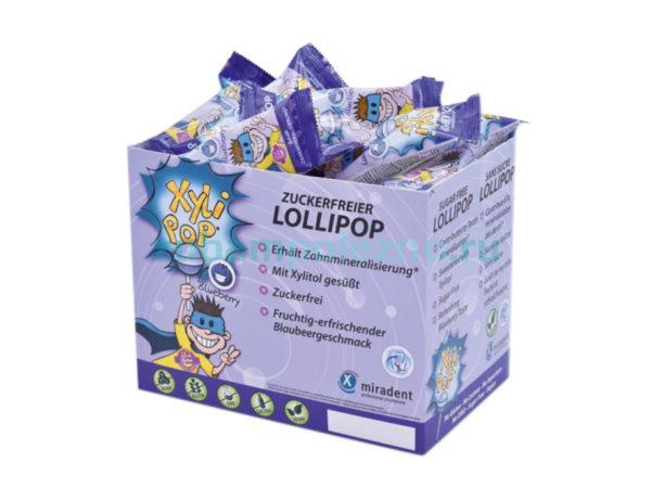 Фото - XyliPOP - леденцы без сахара, с ксилитом, укрепляющие зубы - вкус голубика (50 шт.) | Hager & Werken (Германия)