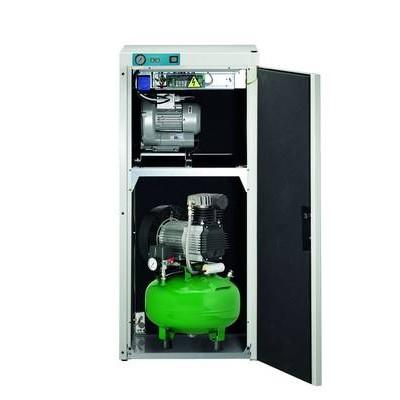 Product photo: KD 224 AB - комбинированный безмасляный компрессор для 2-х стоматологических установок с отсасывающим агрегатом