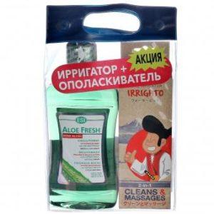 Product photo: Мануальный ирригатор + натуральный ополаскиватель Aloe Fresh 0