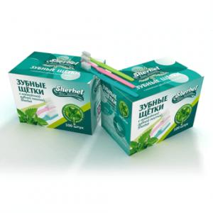 Product photo: Одноразовые зубные щётки с зубной пастой Sherbet
