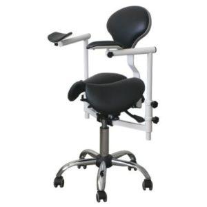 Product photo: Pegas-2D - стул-седло врача-стоматолога с телескопическими подлокотниками для работы с микроскопом | DealDent (Украина)