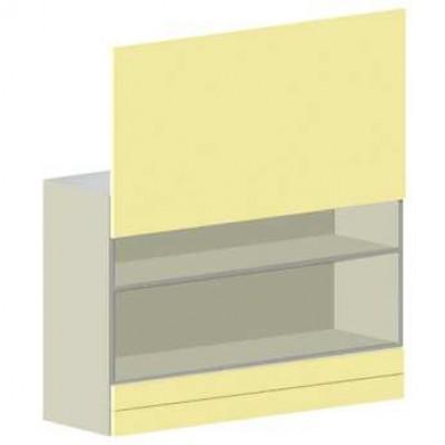 Product photo: SHY.050 - настенный модуль с 2 полками и вертикально открывающейся дверью  CATO (Италия)
