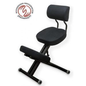 Product photo: Smartstool KM01BМ Black без чехла — металлический коленный стул (со спинкой)