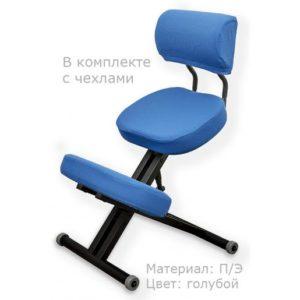 Product photo: Smartstool KM01BМ Black с чехлом — металлический коленный стул со спинкой